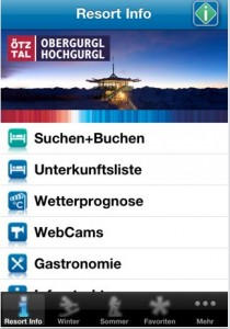 Applikation für Obergurgl-Hochgurgl