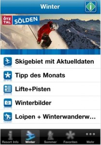 Sölden auf dem iPhone, Android- oder Blackberry-Handy