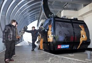 Voll Begeisterung kamen die ersten Fahrgäste am Gaislachkogl an.
