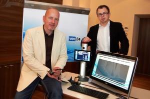Michael Anfang und Leopold Holzknecht präsentierten das neue System.