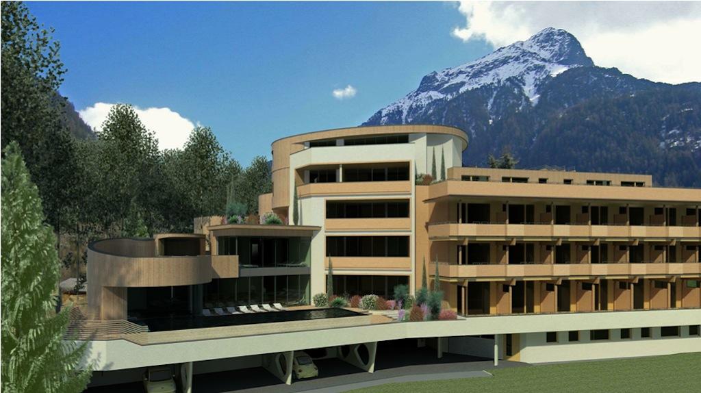 Das Naturhotel Waldklause in Längenfeld wird um eine Natur Spa Anlage erweitert.
