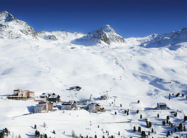 Ansicht Skigebiet Hochgurgl.
