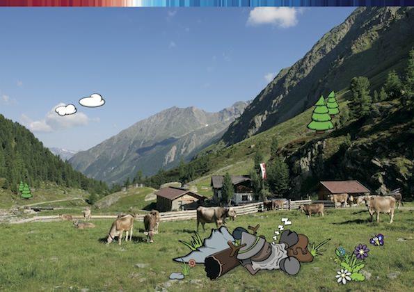 Widi in den Ötztaler Bergen, hier bei der Sulztaleralm.