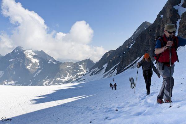 Wanderer beim Grieser Gletschermarsch 2013