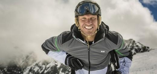 Hermann Maier am Rettenbachgletscher in Sölden. Foto: Seven Summits Extreme / Jürgen Skarwan