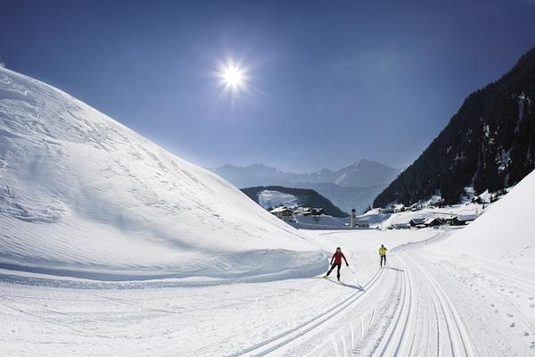Langlaufen am Sonnenplateau in Niederthai - Ötztal Tourismus