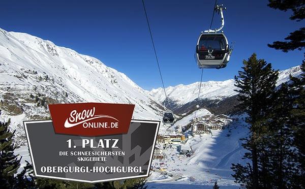 Platz 1 für Obergurgl-Hochgurgl im Bereich Schneesicherheit