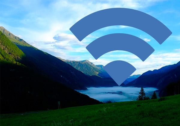 Wlan-Wolke über Längenfeld: Im Zentrum der Thermengemeinde habe ich es schon erfolgreich getestet.