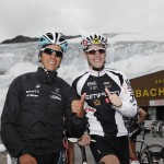Radprofi Thomas Rohregger und Patric Grüner eroberten gemeinsam den Gletscher.