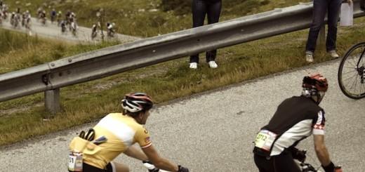 Ötztaler Radmarathon - Teilnehmer bei der Auffahrt nach Kühtai