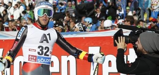 Sölden-Testimonial Bode Miller beim Skiweltcup am Rettenbachgletscher.